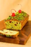 Pistachio loaf cake Royalty Free Stock Photo