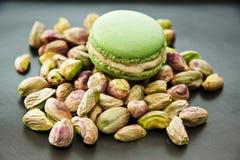 Pistachio macaron Stock Photo