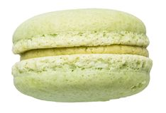 Pistachio macaron. Isolated on white with clipping path Stock Photo