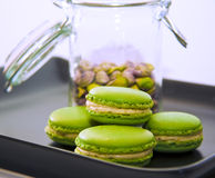 Pistachio macarons Stock Image
