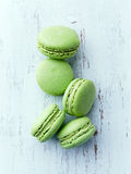 Pistachio Macaroons Stock Photo