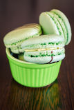 Pistachio Macaroons Royalty Free Stock Images