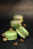 Pistachio macaroons Stock Images
