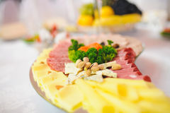 Pistachio with Meat and Cheese Royalty Free Stock Photos