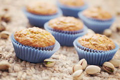 Pistachio muffins Royalty Free Stock Image
