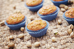 Pistachio muffins Royalty Free Stock Photography