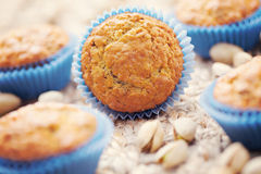 Pistachio muffins Royalty Free Stock Photo