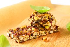Pistachio nut bar Royalty Free Stock Images