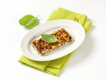 Pistachio nut bar Stock Images
