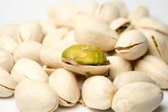 Pistachio nut close up shot Stock Photo