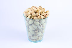 Pistachio nut. In a cup royalty free stock photography