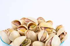 Pistachio nut. In a cup stock image