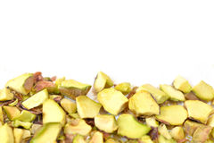 Pistachio nut roughly chopped Royalty Free Stock Image