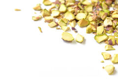 Pistachio nut roughly chopped Royalty Free Stock Images