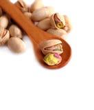 Pistachio nut on white background Royalty Free Stock Photos