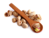 Pistachio nut on white background Stock Photography