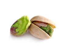 Pistachio nut on white background Royalty Free Stock Images