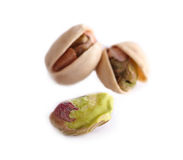 Pistachio nut on white background Royalty Free Stock Photos
