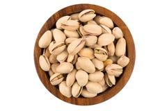 Pistachio nut on white Stock Image