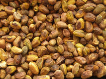 Pistachio nuts. A lot of pealed pistachio nuts Royalty Free Stock Images