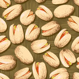 Pistachio Nuts. Background of delicious pistachio nuts. Food texture Stock Image