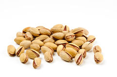 Pistachio nuts. On white backgound Stock Images