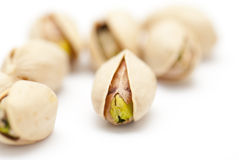 Pistachio nuts. On white background Royalty Free Stock Image