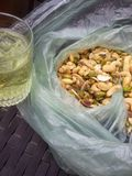 Pistachio Nuts in a bag Stock Image