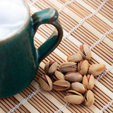 Pistachio nuts for beer Royalty Free Stock Photo