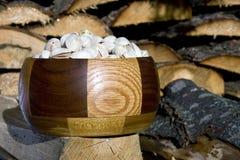 Pistachio nuts bowl Stock Photo