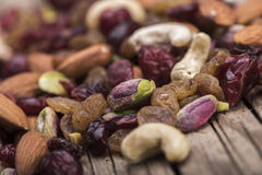 Pistachio and nuts closeup Royalty Free Stock Image