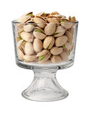 Pistachio Nuts in a Dessert Glass Stock Photography