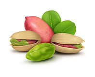 Pistachio nuts group Royalty Free Stock Image