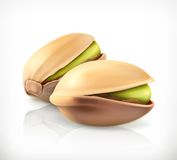 Pistachio nuts  icon Royalty Free Stock Photography