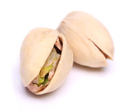 Pistachio nuts. Isolated on white Royalty Free Stock Photo