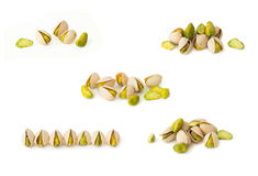 Pistachio nuts isolated Royalty Free Stock Photos