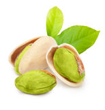 Pistachio nuts isolated Stock Photo