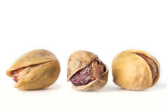 Pistachio nuts. Isolated on a white background.  Royalty Free Stock Photography
