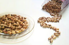 Pistachio nuts peanuts on table Royalty Free Stock Photography