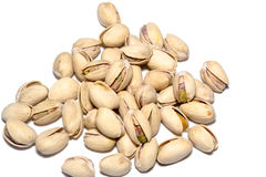 Pistachio Nuts Pile On White Background Royalty Free Stock Images