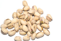 Pistachio Nuts Pile On White Background Royalty Free Stock Photo