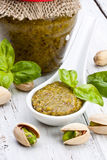 Pistachio pesto Royalty Free Stock Photography