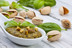 Pistachio pesto Royalty Free Stock Photo