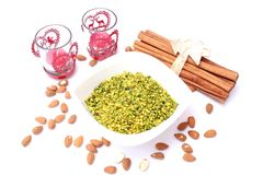 Pistachio pieces Stock Photos