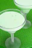 Pistachio Pudding. Served in frosted margarita glasses Royalty Free Stock Photography