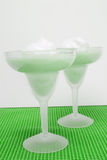 Pistachio Pudding in Chilled Margarita Glasses Royalty Free Stock Photos