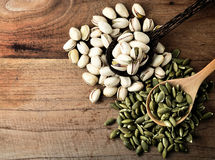 Pistachio and pumpkin seed Royalty Free Stock Photo
