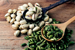 Pistachio and pumpkin seed Stock Image