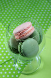 Pistachio and Raspberry macarons Stock Image