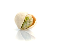 Pistachio in shell isolated on white Stock Photo